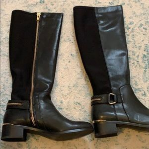Steve Madden black leather boots size 8 1/2